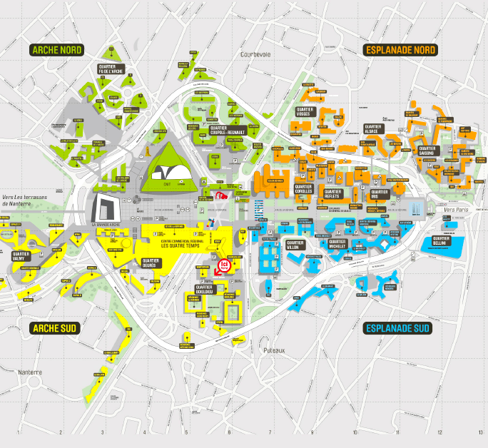 Plan du quartier de la Défense