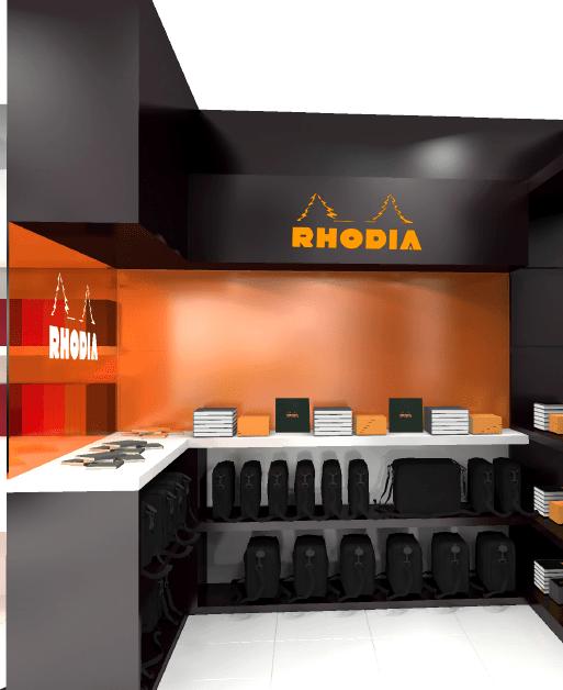 Vue 3D de l'espace Rhodia