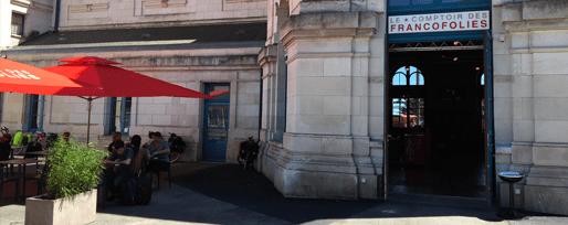 Ambiance extérieure du Comptoir en gare de la Rochelle - Studio Simon Pointillart Design