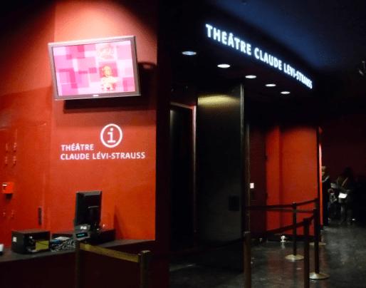 Identification du Théâtre Claude Levi-Strauss. Lettres découpées lumineuses.