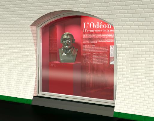 Projection 3D de la niche de la station Odéon