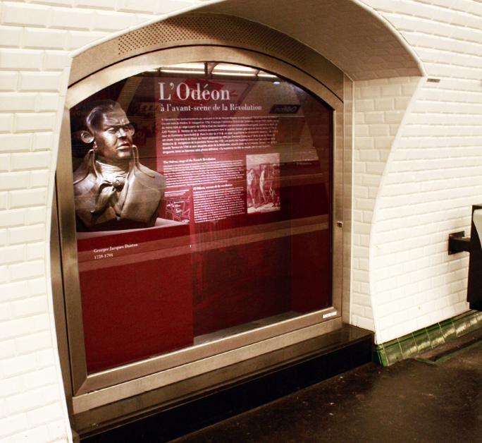 Vue générale de la niche de la station Odéon