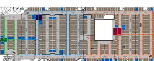 Plan du projet d'habillage graphique du parking