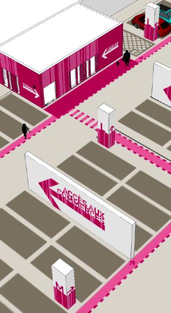 Vue Axonométrique du projet d'habillage graphique du parking