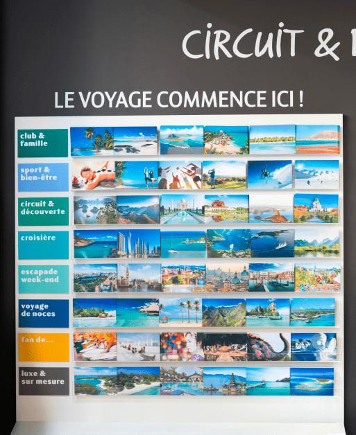 Mur de cartes postales > Catalogues des différents voyages