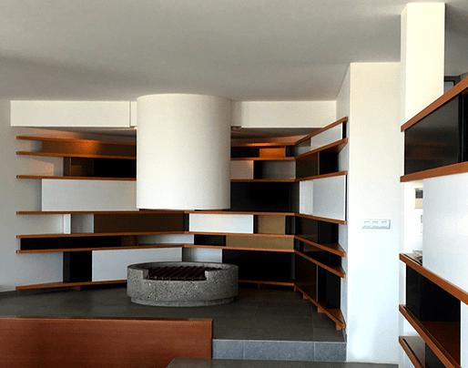 vue de la continuité des meubles l'un par rapport à l'autre